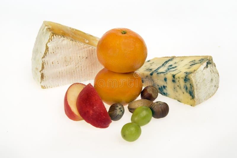 Tuercas de la fruta del queso fotos de archivo