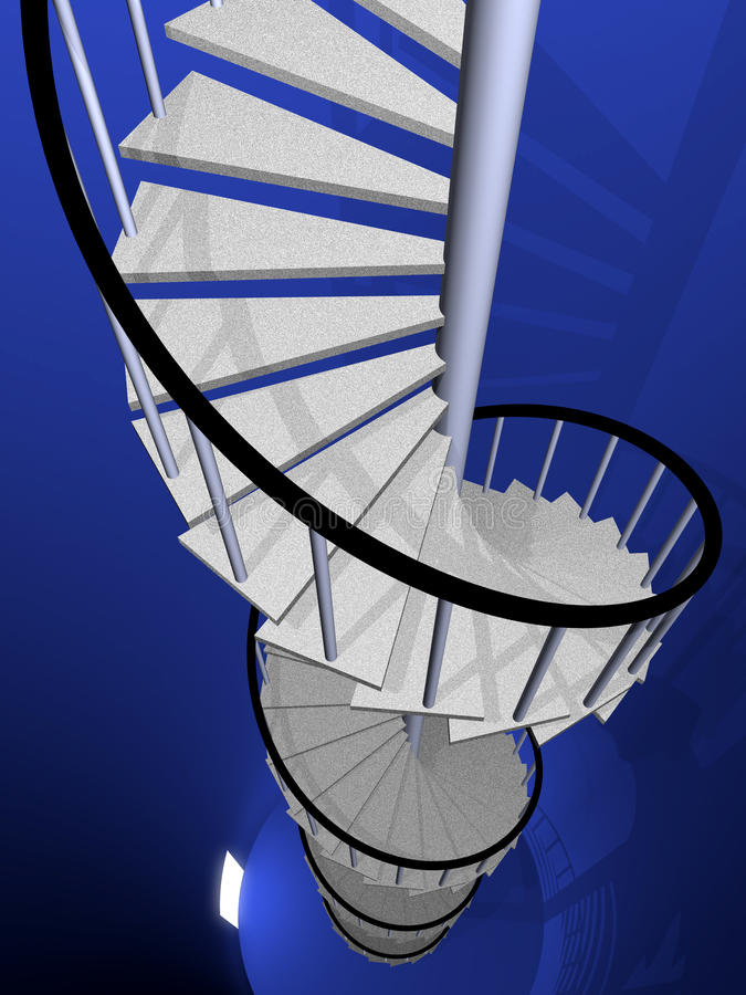 Tuerce en espiral la escalera libre illustration