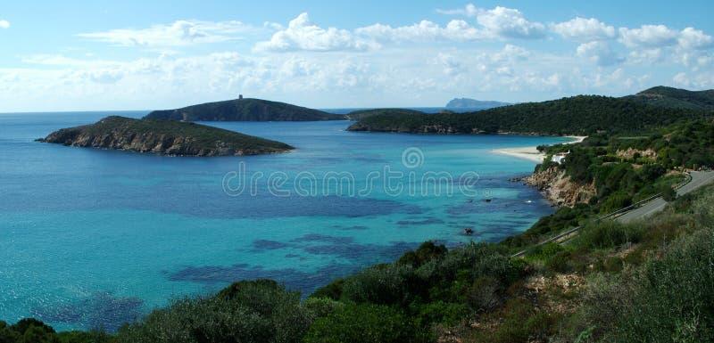 tuerredda na plaży zdjęcia royalty free