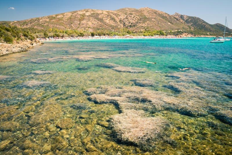 Tuerredda, una di spiagge più belle in Sardegna fotografia stock