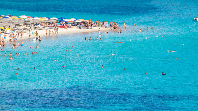 Tuerredda, una di spiagge più belle in Sardegna fotografie stock