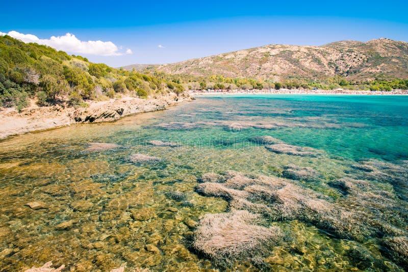 Tuerredda, una di spiagge più belle in Sardegna immagini stock libere da diritti