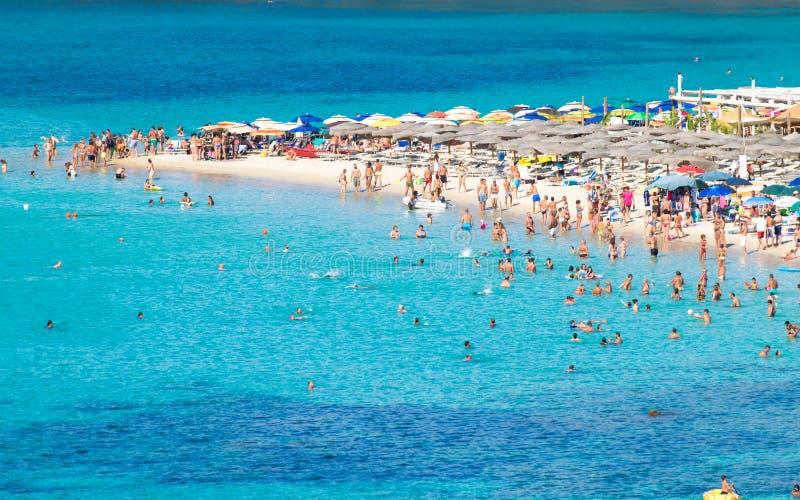 Tuerredda, una di spiagge più belle in Sardegna fotografia stock libera da diritti