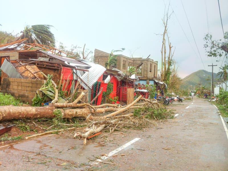 Tufão Yolanda Haiyan 2013 imagem de stock
