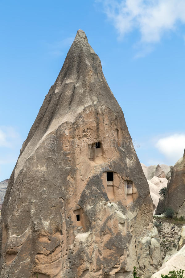 Tuff-Berglandschaft, Cappadocia, die Türkei stockfotos