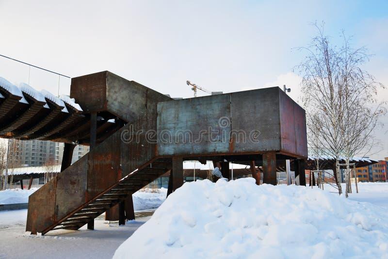 Tuffelbosje Nieuwe openbare park en plaats voor rust open in 2018 in Moskou royalty-vrije stock foto
