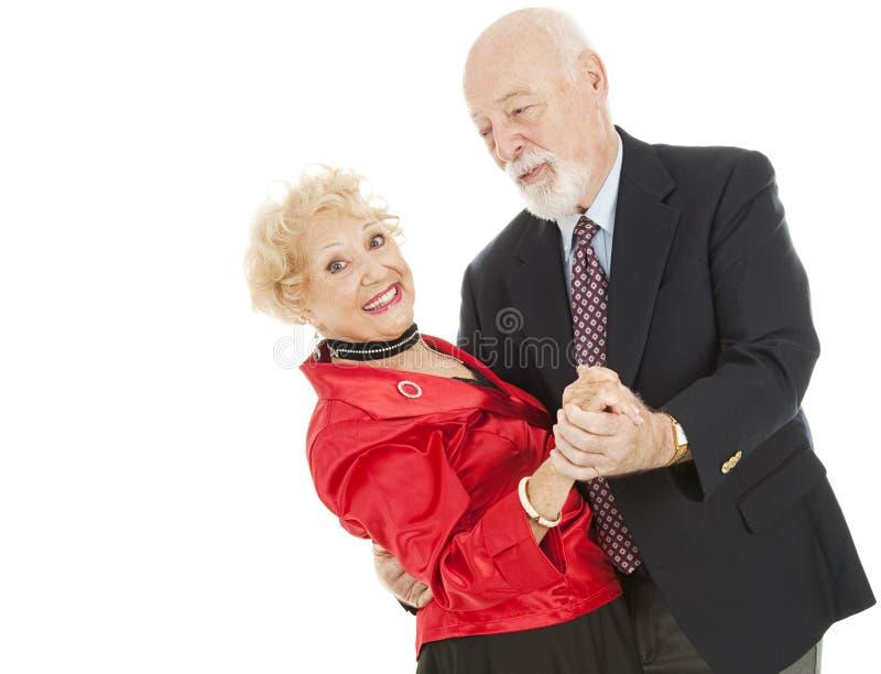 Tuffo degli anziani di Dancing fotografia stock
