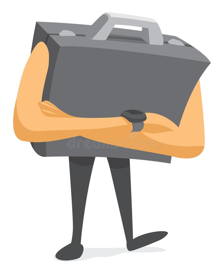 Tufft vänta för affärsportfölj vektor illustrationer