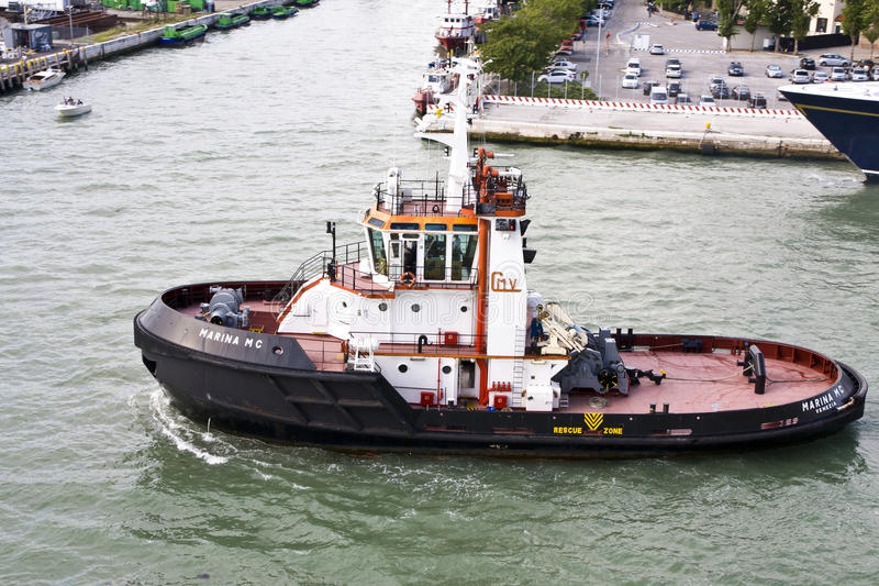 Download Tug Boat editorial stock photo. Image of vessel, industry - 20337243