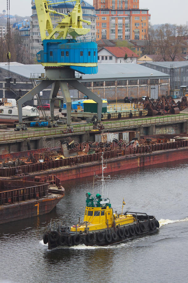 Download Tug boat stock photo. Image of port, tugboat, industrial - 24458418