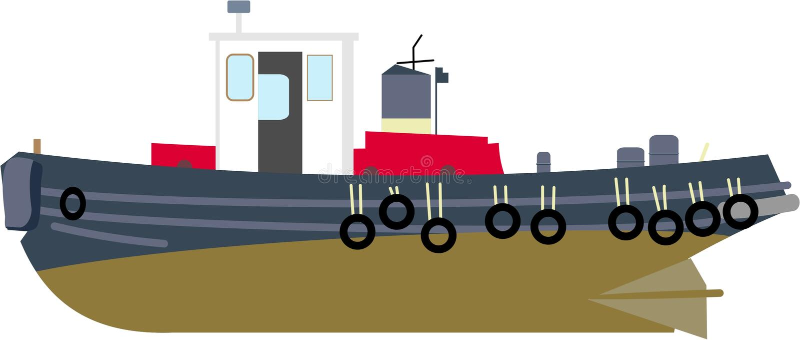 Tug Boat royalty free illustration