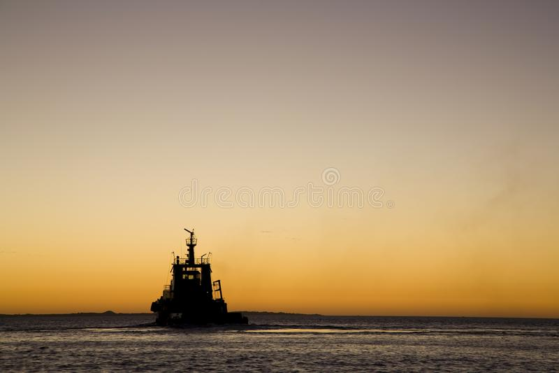 Tug Boat Horizon photo stock