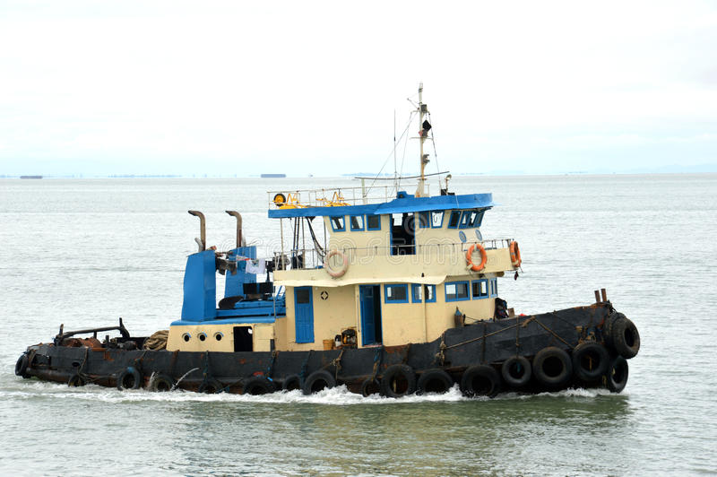 Download Tug boat stock photo. Image of delivery, blue, harbor - 34444794
