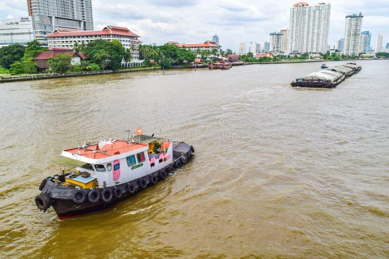 Tug boats stock photo