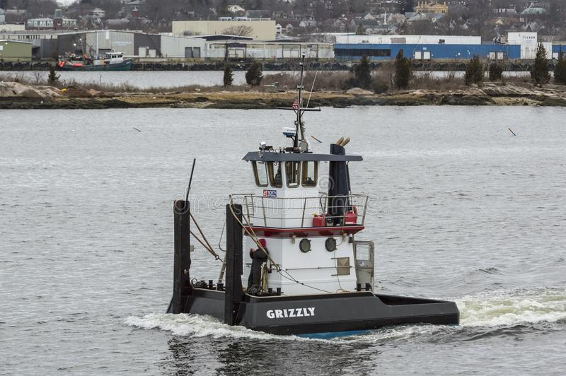 Tug Grizzly no porto de New Bedford imagem de stock