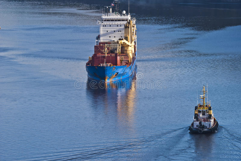 Tug Herbert Meets Bbc Europe In The Fjord Image 19 Royalty Free Stock Image