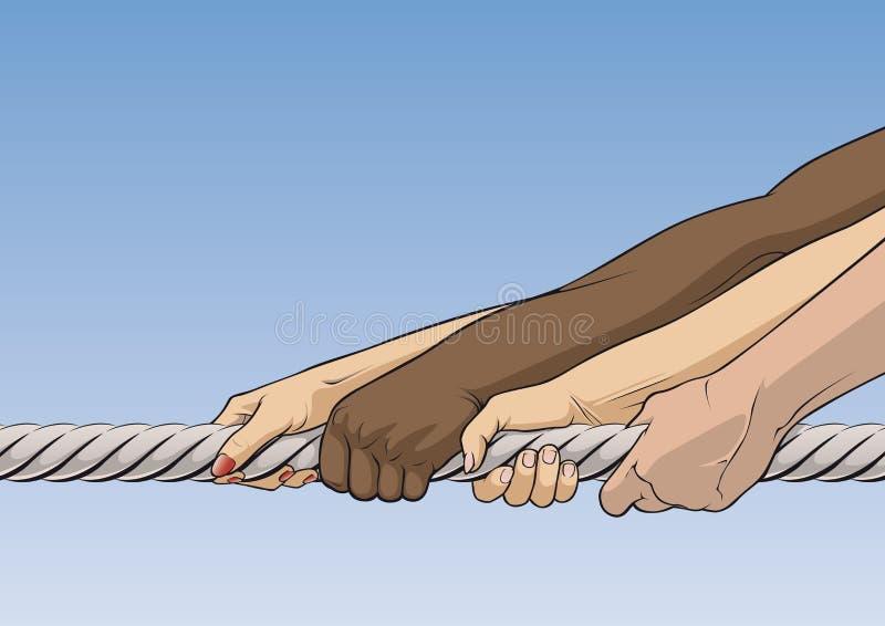 Download Tug-of-war stock illustration. Illustration of power, hand - 5977196