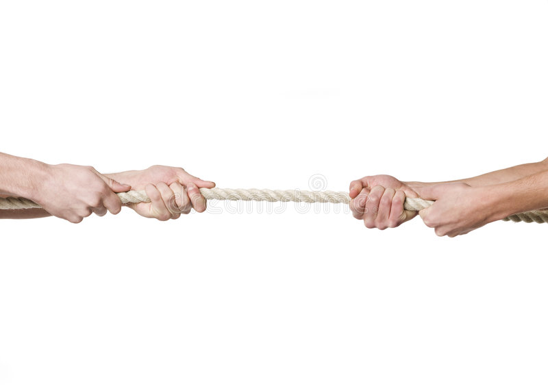 Tug-of-war royalty free stock images