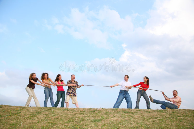 Download Tug of War on Hill stock image. Image of team, struggle - 2713133
