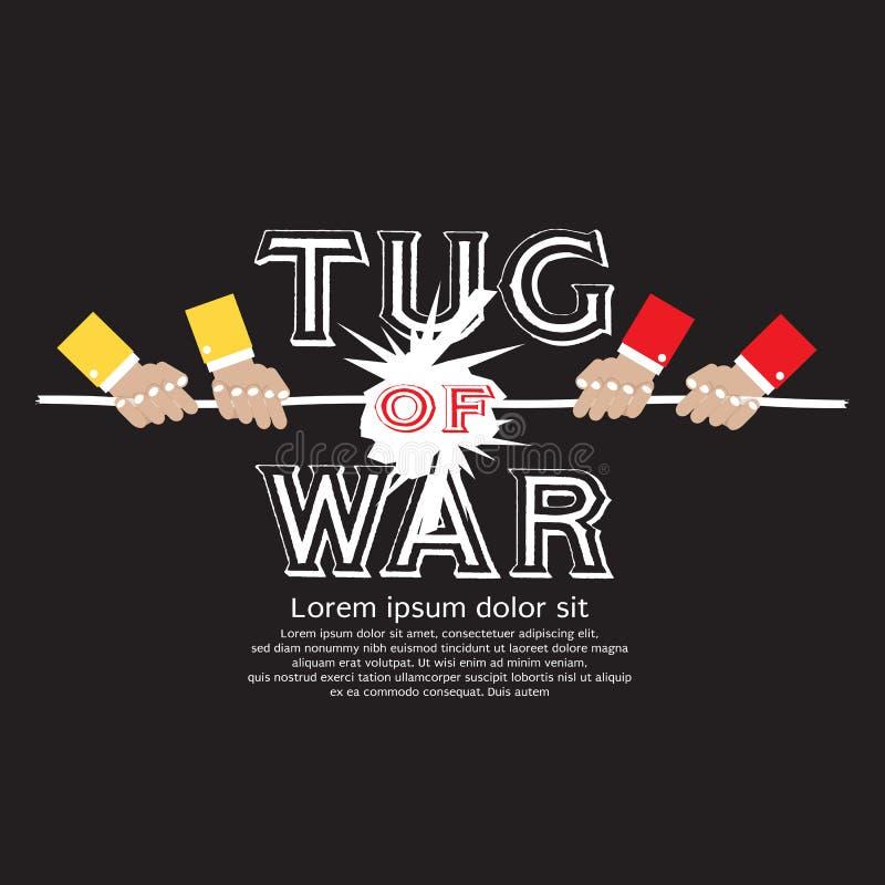 Tug Of War. Tug Of War Vector Illustration EPS10 stock illustration