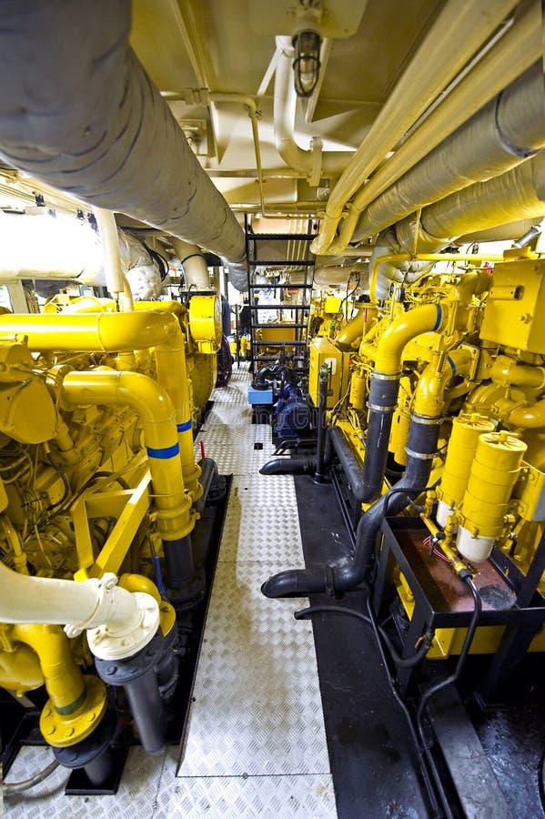 tugboat комнаты двигателя s стоковое фото