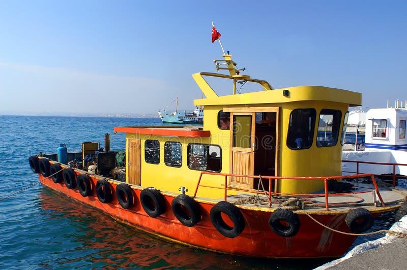 Tugboat. At the Princes' Islands (Adalar), Istanbul, Turkey royalty free stock photos