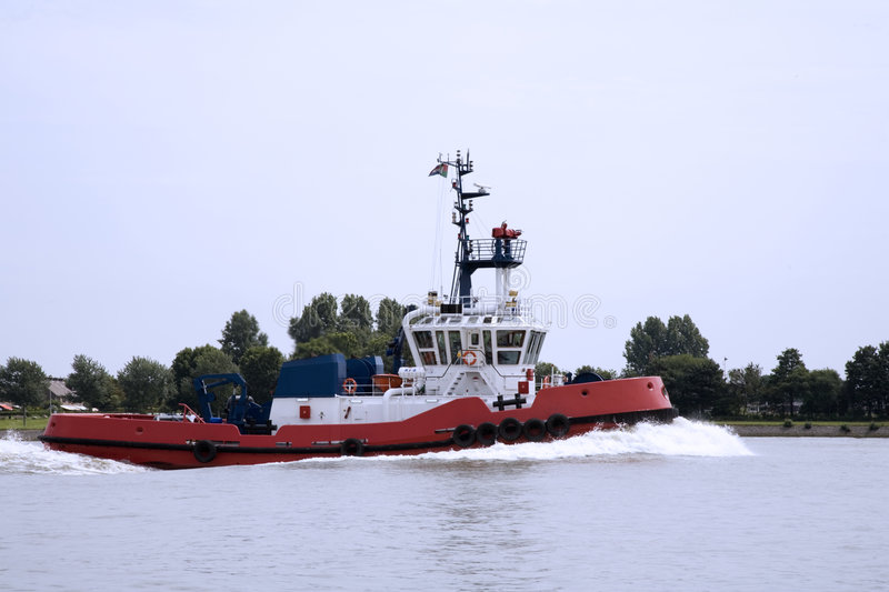 Tugboat. Rotterdam harbour stock photography