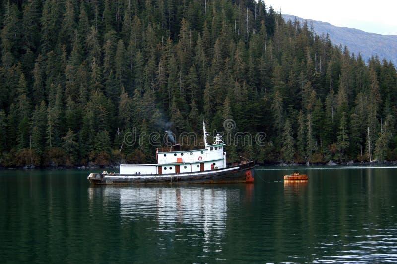 Tugboat in Alaska. Old Tugboat in Prince Williaim Sound, Alaska stock photography