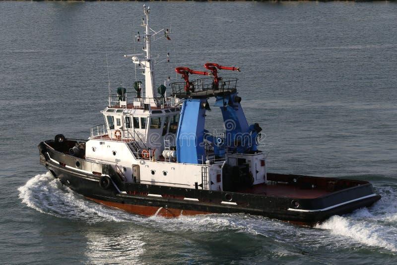 Tugboat. In civitavecchia port near rome, lazio, italy stock image