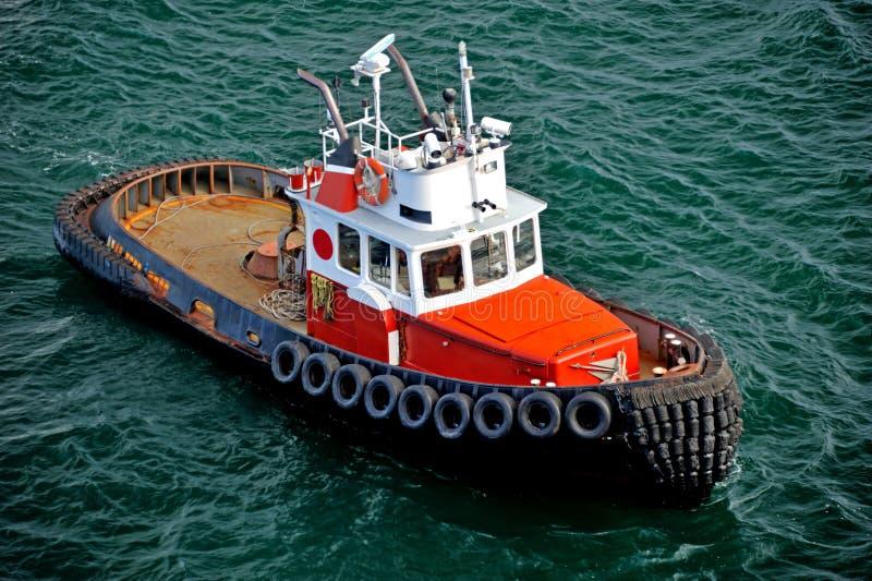 Tugboat em Alaska fotografia de stock