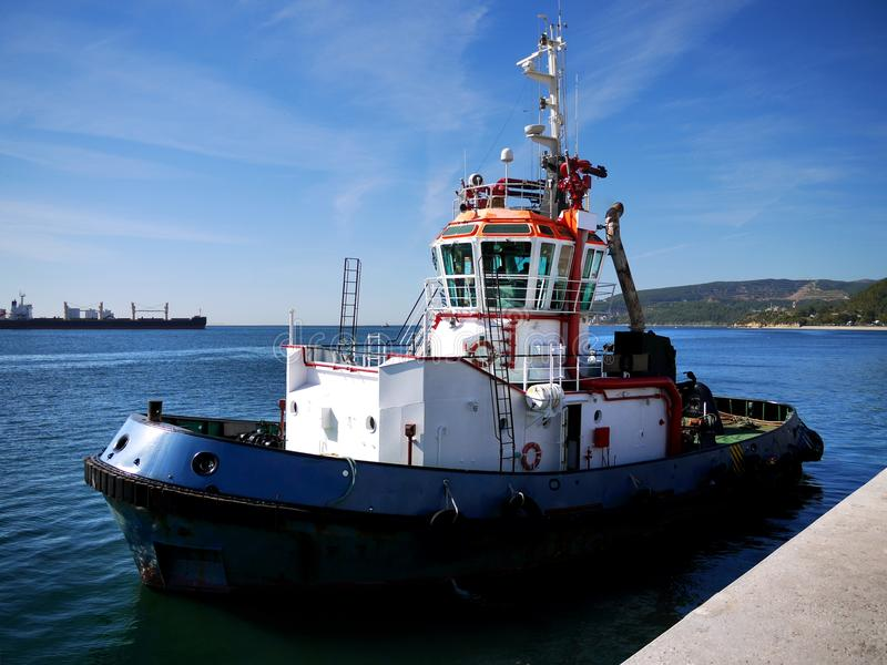 Tugboat in Port M royalty free stock photo
