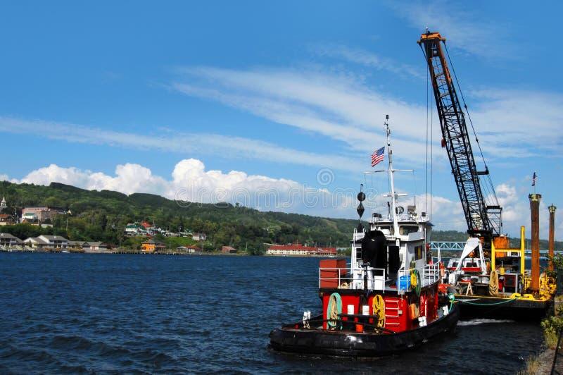 Tugboat praca zdjęcie royalty free