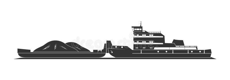 Tugboat pushing barges royalty free stock photos