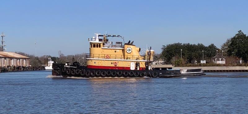 Tugboat. Savannah River tugboat stock photography