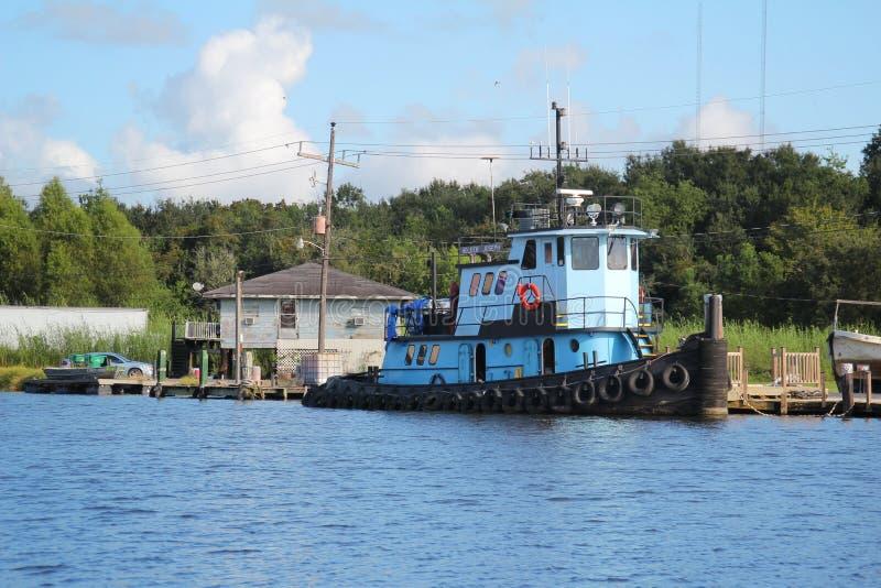 Louisiana Tugboat. A tugboat in South Louisiana royalty free stock photos