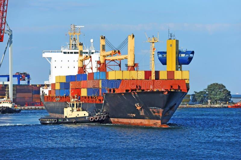 Tugboat target933_0_ zbiornika ładunku statek obrazy royalty free