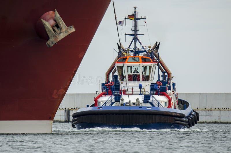 TUGBOAT. TOWING SHIP - HARBOR SWINOUJSCIE stock image