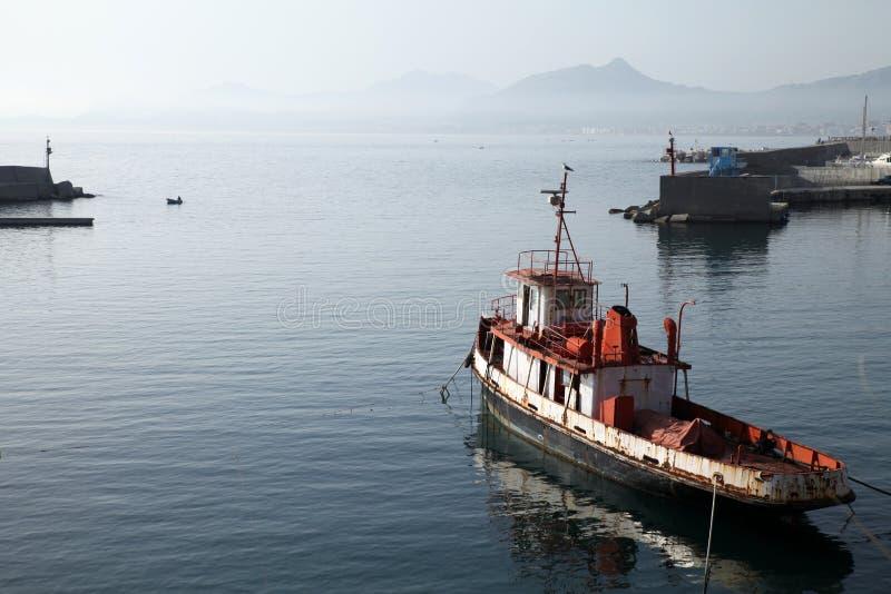 Tugboat velho fotografia de stock royalty free