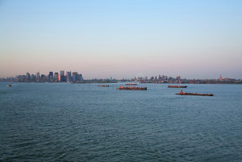 Tugboats στον ανώτερο κόλπο της Νέας Υόρκης στοκ φωτογραφία με δικαίωμα ελεύθερης χρήσης