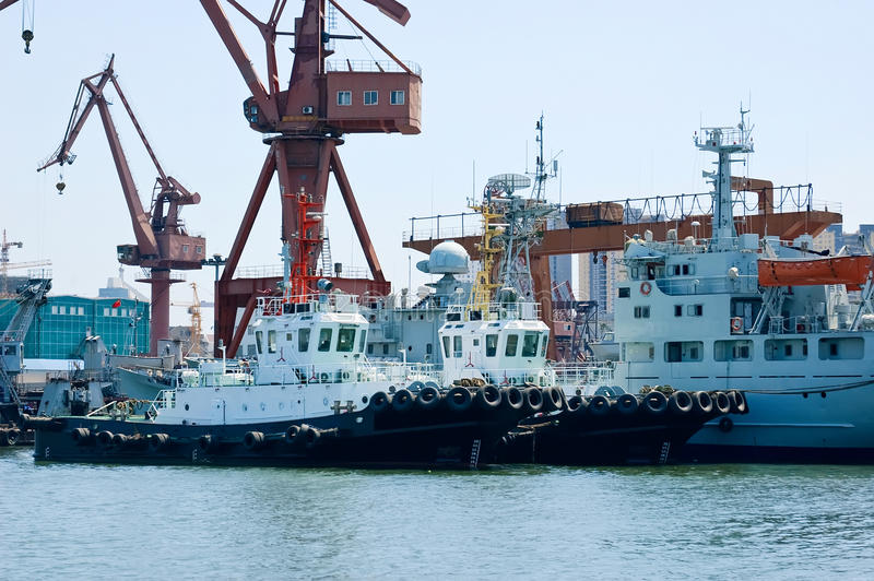 Download Tugboats Parked On The Pier Stock Image - Image: 14277291