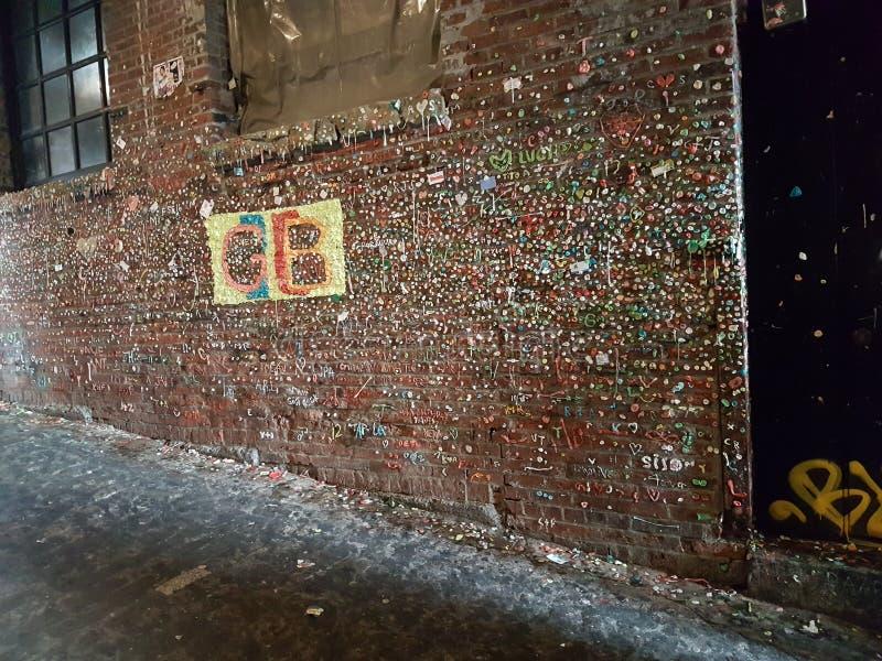 Tuggummi vägg arkivbild