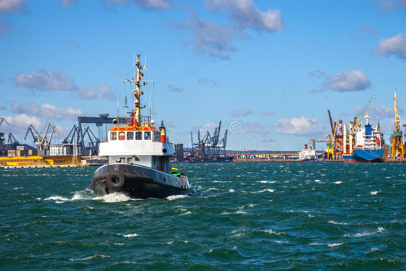 Tugs Vessel In The Port Of Gdynia, Poland. Stock Photos