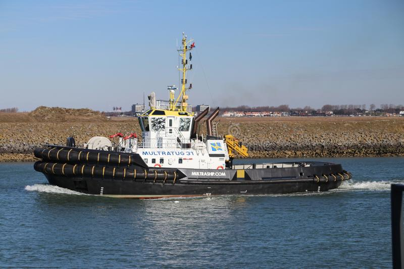 Tugships van Multratug die haven Tennesseehaven verlaten stock foto's