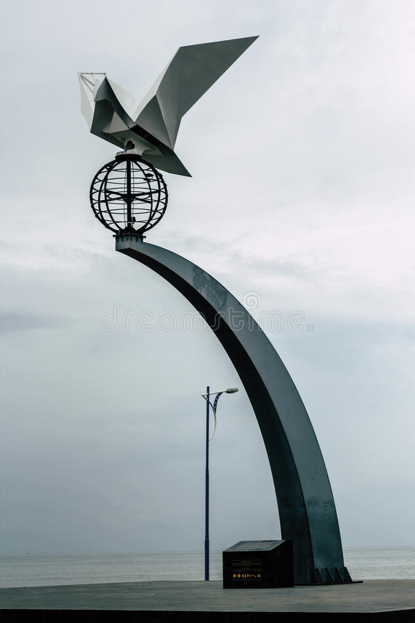 TUGU MERPATI PERDAMAIAN PADANG miasto W SUMATERA BARAT obraz royalty free