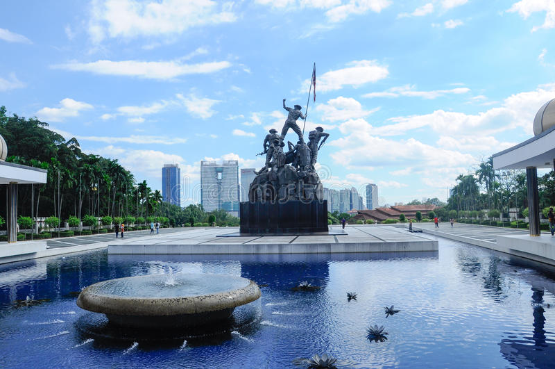 Tugu Negara α Κ Α Εθνικό μνημείο στη Μαλαισία στοκ φωτογραφία
