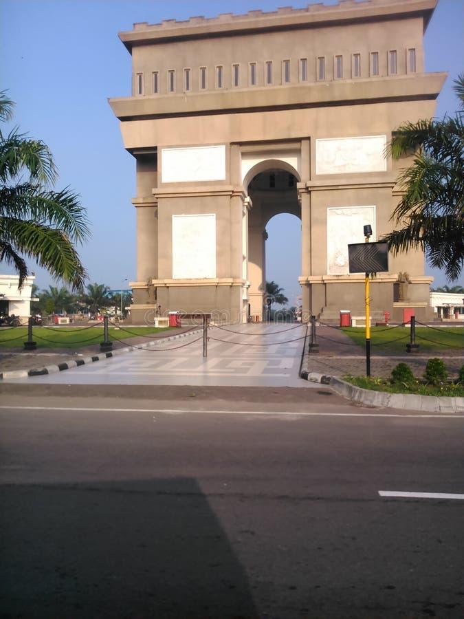 tugu simpang lima gumul kediri indonesia royalty free stock photography