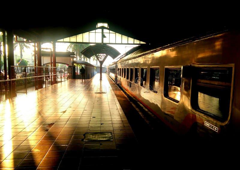 Tugu yogyakarta Indonésia do estação de caminhos-de-ferro imagem de stock