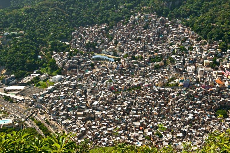 Tugurios brasileños Rocinha fotografía de archivo libre de regalías