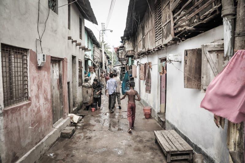 Tugurios en Bangladesh imagenes de archivo