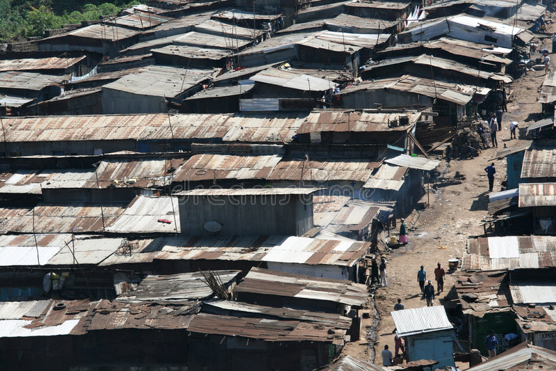 Tugurios en Nairobi imagen de archivo